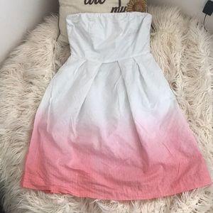 J. Crew Strapless Gradient Dress
